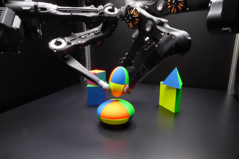 Picture of the robot with multiple objects